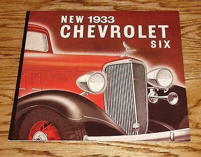 1933 Chevrolet Six Full Line Sales Brochure 33 Chevy