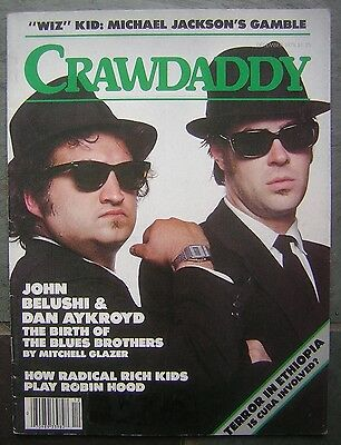 "Dec. 1978 CRAWDADDY Magazine - John Belushi & Dan Aykroyd ""Blues Brothers"" cover"