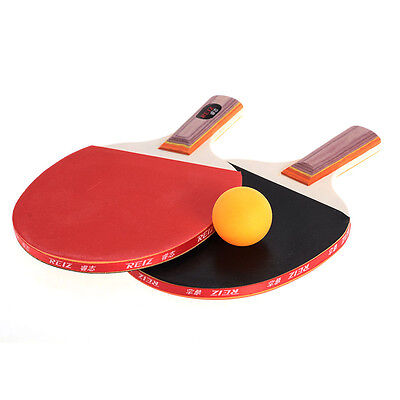 1 Pair Professional Table Tennis Ping Pong Racket Bat + 3 Balls High Quality