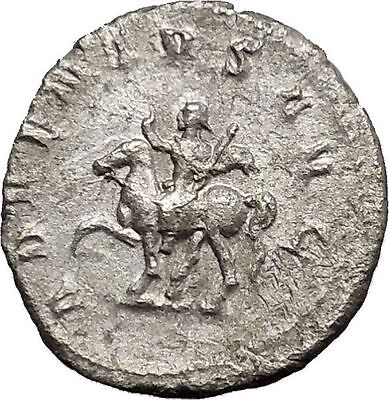 TRAJAN DECIUS on horse 249AD Silver Authentic Ancient  Roman Coin i50610