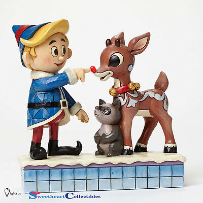 Jim Shore Rudolph 4047939 Hermey Touching Rudolphs Nose Shines Up 2015