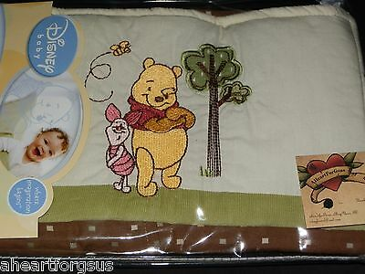 Disney New Winnie Pooh Piglet Diaper Stacker Boy Embroidery Day In The Park