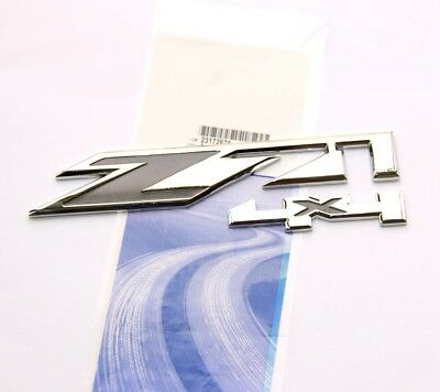 1pc OEM Chrome Z71 Emblem 4x4 for GMC Chevy Silverado Sierra Tahoe Suburban