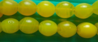 10 Vintage Yellow Bohemian Glass Beads from the African Trade Found in Ethiopia