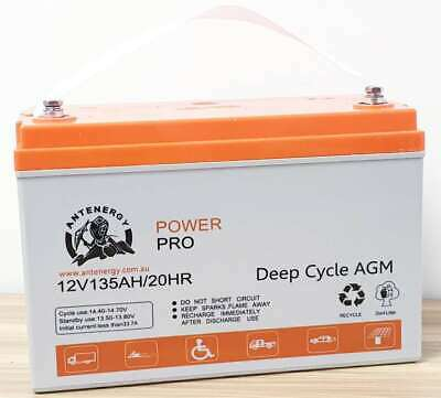 4WD SOLAR WIND 12V 135AH AGM DEEP CYCLE BATTERY for CARAVAN Marine 4WD