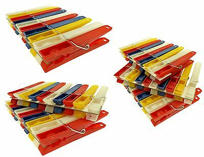 Plastic Jumbo Clothes Pegs Peg Spring Loaded Peg For Washing Line Asst Colours