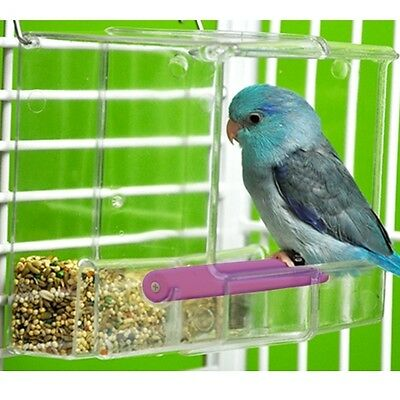 Seed No Mess Bird Feeder Parrot Toys Canary Cockatiel Finch Tidy Corral Tweeky