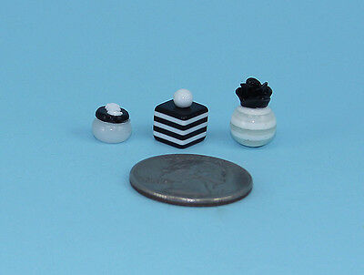 Beautiful Set of 3 Dollhouse Miniature Perfume Bottles for your Vanity #PS31