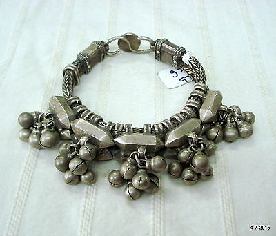 vintage antique collectible tribal old silver cuff bracelet india