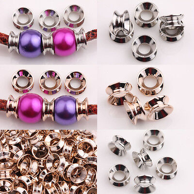 25/50Pcs CCB Bracelet Craft Charm Spacer Beads Caps DIY  Jewelry Findings 12x6mm