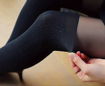Women Lady Fake High Thigh Over Above Knees Pantyhose Tights Stockings Opaques