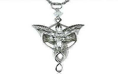 Nice HOT Fashion LOTR Charm Arwen Evenstar Silver Crystal Pendant Necklace NEW A