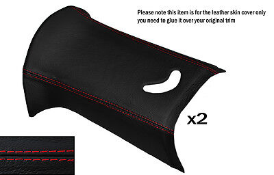 BLACK STITCH 2X C POST PILLARS SKIN COVERS FITS BMW MINI R50 R53 2001-2006