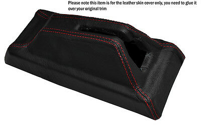 Red Stitch Centre Console Handbrake Housing Leather Cover Fits Peugeot 205