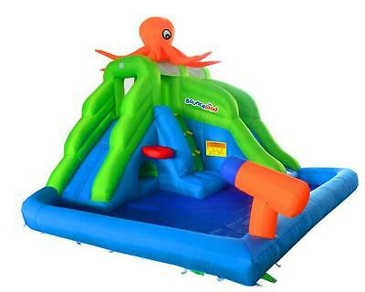 Bounceland Octopus Land 13ft Bouncy Castle Inflatable Water Slide Park with Fan