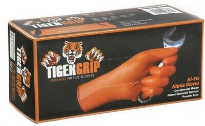 Tiger Grip Orange Nitrile Gloves Small Medium Large Xl Xxl Superior Quality