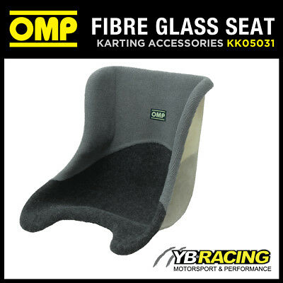 KK05031 OMP UPHOLSTERED FIBREGLASS KART KARTING RACE SEAT SIZES 27 to 38cm WIDTH