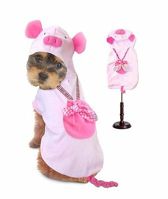High Quality Dog Costume PIG COSTUMES Dress Your Dogs as Farm Animal Pink Piglet