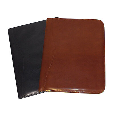 Royce Leather Zip Around Writing Genuine Leather Padfolio