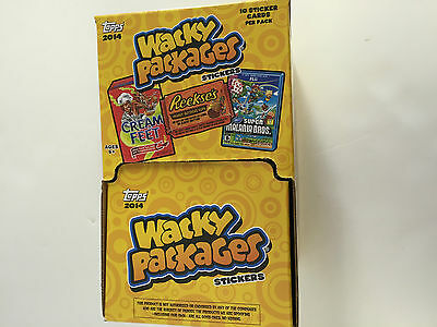 2014 TOPPS WACKY PACKAGES SERIES 1 GRAVITY FEED BOX (48 packs)