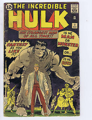 Incredible Hulk #1 Marvel 1962, 1st appearance Incredible Hulk! (RESTORED)