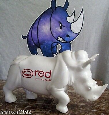 "Red by Marc ecko White Rhino figure store display 11""x6 1/2"" Reair New"