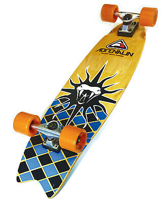 "Adrenalin Telstar-X Ramp And Cruise 32"" Skateboard - Single Kick Retro Deck"