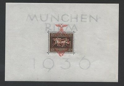 GERMANY - 1937 BROWN RIBBON OVPT. M/S MNH SG.MS367a    (REF.A40)