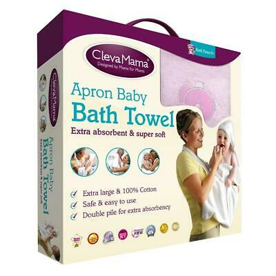 Clevamama Splash & Wrap Baby Bath Towel (Pink)