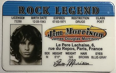 Jim Morrison - Drivers License Novelty - The Doors