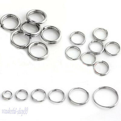 Hot Selling Stainless Steel Double Loop Split Open Jump Rings Connector 4-14mm
