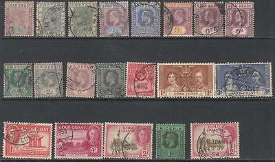 Gold Coast hi val selection 18 diff stamps cv $66.50