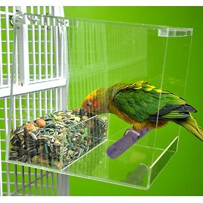 Large Tweeky Clean Seed Bird Feeder parrot toy toys african grey amazon tidy