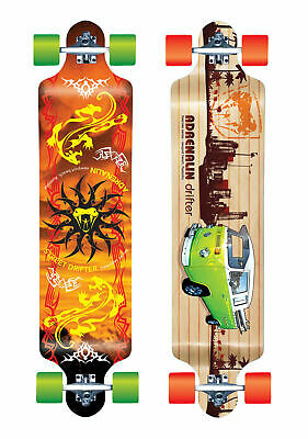 "Adrenalin Freerider 38"" Drifter High Spec Skateboard - 2 Designs Available"