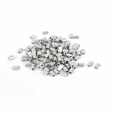 1mm Wire Rope Aluminum Sleeves Clip Fittings Cable Crimps 100pcs
