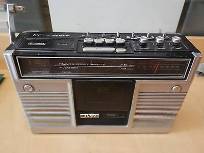 Vecchia radio cassette NATIONAL PANASONIC RS451S Stereo Wide System parti ricamb