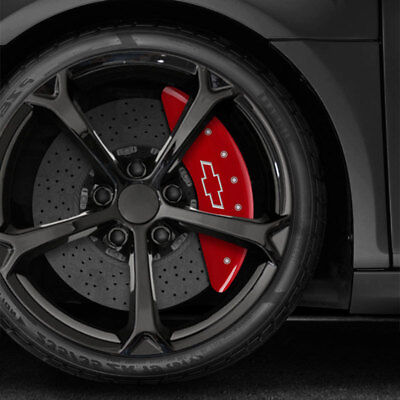 Red Bowtie Caliper Covers for 2011-2017 Chevrolet Silverado 3500 HD by MGP