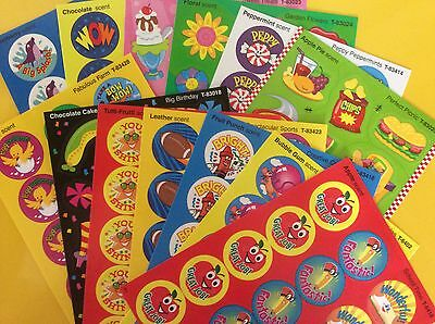 Scratch and Sniff Stickers - Great Variety - Teacher Rewards, Kids Party Favours