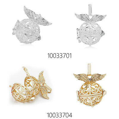 Hollow Box Wing Pendant Bola Angel Cage Sound Bell Beads DIY