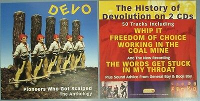 DEVO 2000 PIONEERS WHO GOT..2 SIDED promotional poster/flat ~NEW~MINT condition~