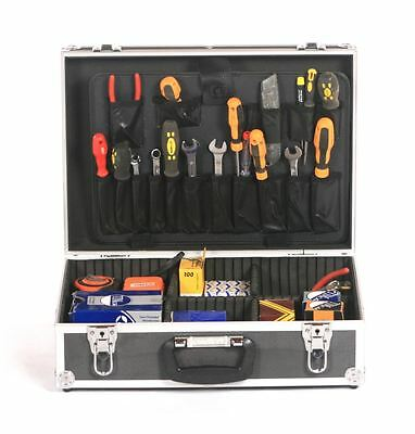 aluminium electricians joiners tradesmans toolbox tool storage box flight case