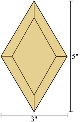 3x5 Diamond Bevels - Box of 30 - BROWN Stained Glass