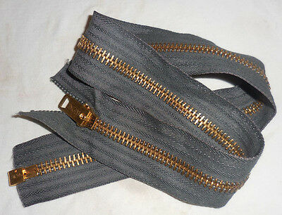 Original Conmar Brass Zipper for the U.S. N-3B Parka   (NEW)