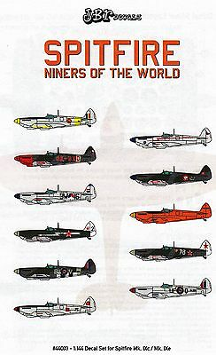 jbr44003/ JBr Decals - Spitfire Mk. IXc / Mk IXe - Niners of the World - 1/144