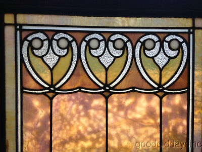 "Wonderful Stained Leaded Glass Window Awesome Glass Colors 33"" x 24"""