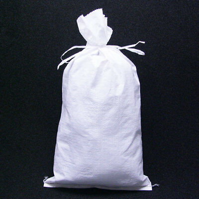 500 NEW White 100% Polypro Sandbags w/ Tie-String 14x26 50lb Capacity Sand Bags