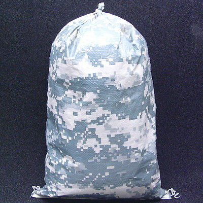 500 NEW CAMO 100% Polypro Sandbags w/ Tie-String 16.5x27 65lb Capacity EarthBag