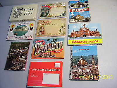 9 Assorted Worldwide Souvenir Folders with Several Large Size Folders