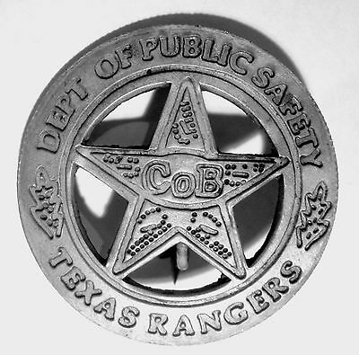 Texas Rangers Co B  Badge Peso Back Soldered Pin