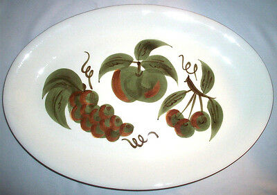 """Stangl Pottery: ORCHARD SONG #5110; 1962: Large Oval 14-1/2"""" Platter: VGC: NR"""